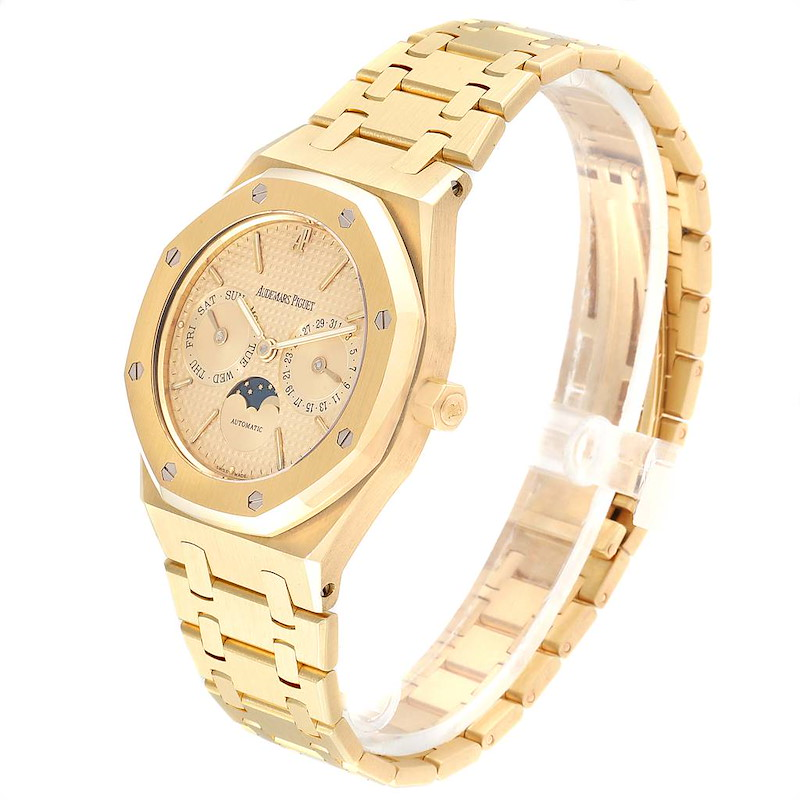 Audemars Piguet Royal Oak Yellow Gold Day Date Moonphase Mens Watch 25594 SwissWatchExpo