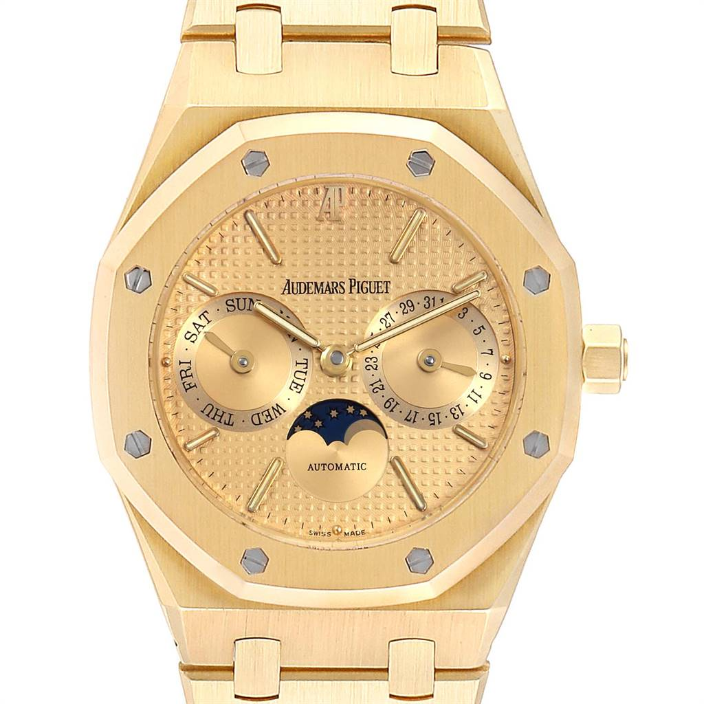 Photo of Audemars Piguet Royal Oak Yellow Gold Day Date Moonphase Mens Watch 25594