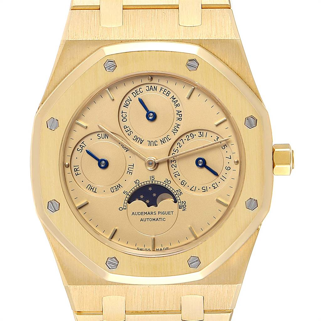 26759 Audemars Piguet Royal Oak Yellow Gold Perpetual Calendar Moonphase Watch 25654 SwissWatchExpo
