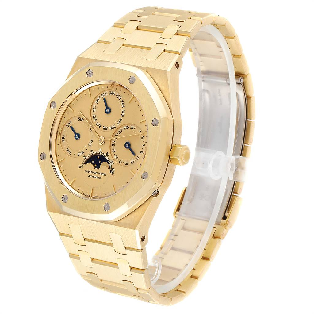 Audemars Piguet Royal Oak Yellow Gold Perpetual Calendar Moonphase Watch 25654 SwissWatchExpo