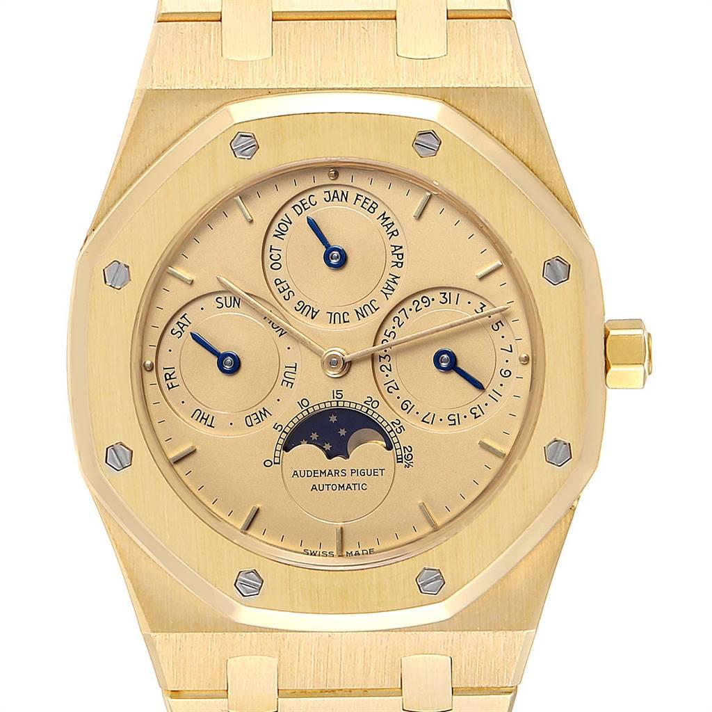 Audemars Piguet Royal Oak Yellow Gold Perpetual Calendar Moonphase Watch 25654