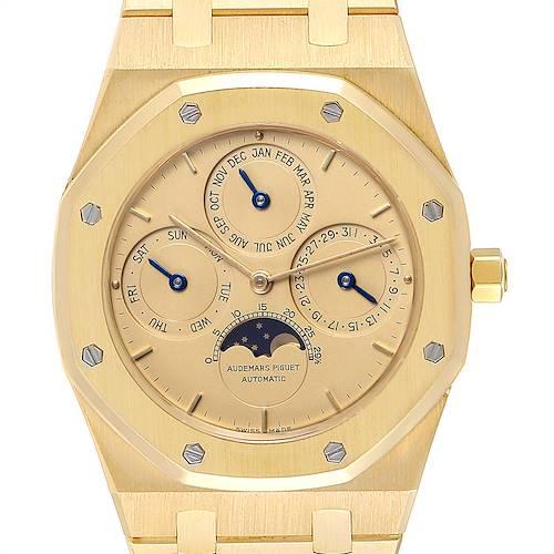 Photo of Audemars Piguet Royal Oak Yellow Gold Perpetual Calendar Moonphase Watch 25654