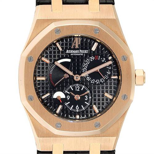 Photo of Audemars Piguet Royal Oak Dual Time Power Reserve Rose Gold Watch 26120OR