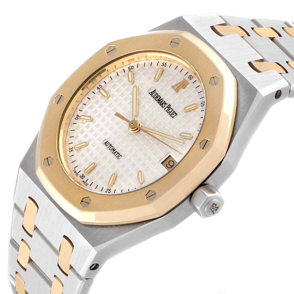 Audemars Piguet Royal Oak Steel Yellow Gold Mens Watch 14790SA SwissWatchExpo