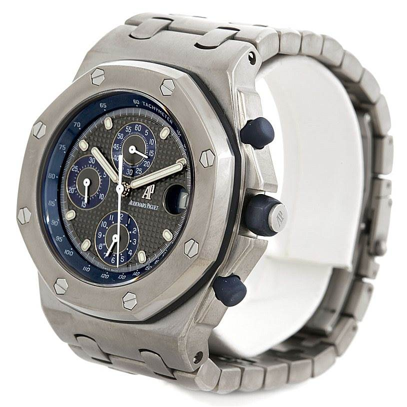5607p Audemars Piguet Royal Oak Titanium 25721TI.0.1000TI.01 Watch SwissWatchExpo