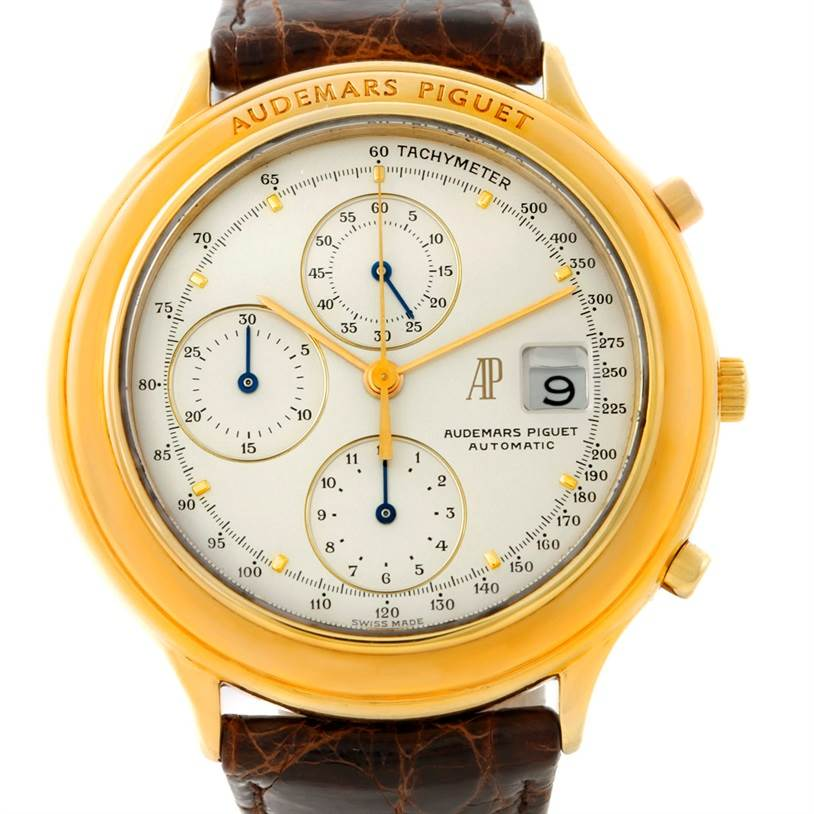 7390 Audemars Piguet Huitieme Yellow Gold Chronograph Watch 25644.002 SwissWatchExpo
