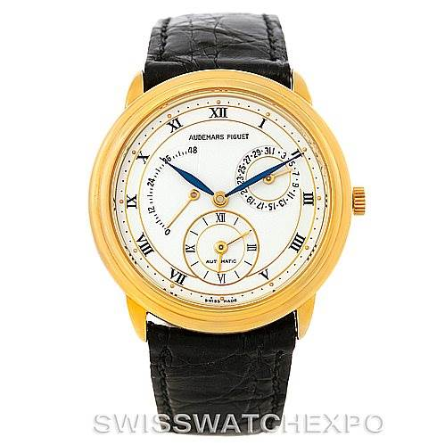 7589 Audemars Piguet Dual Time GMT Power Reserve Watch 25685BA.0.0002 SwissWatchExpo