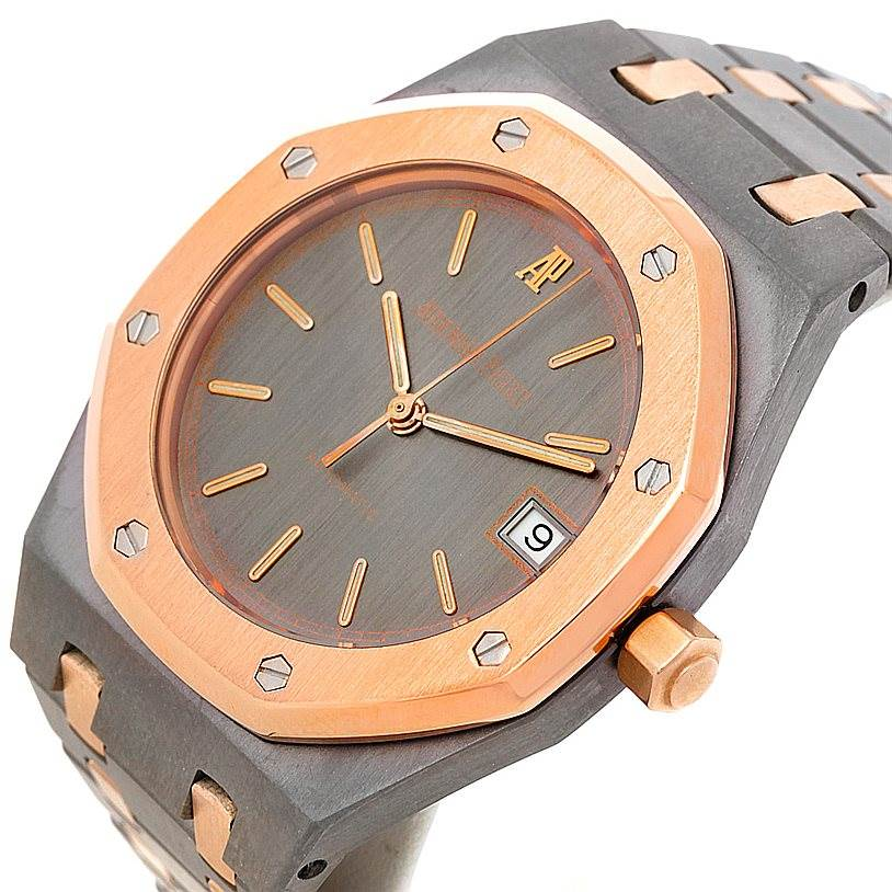 8410 Audemars Piguet Royal Oak Tantalum Rose Gold Watch SwissWatchExpo