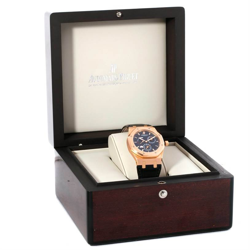 Audemars Piguet Royal Oak Dual Time 18K Rose Gold Watch 26120OR.00.D002CR.01 SwissWatchExpo