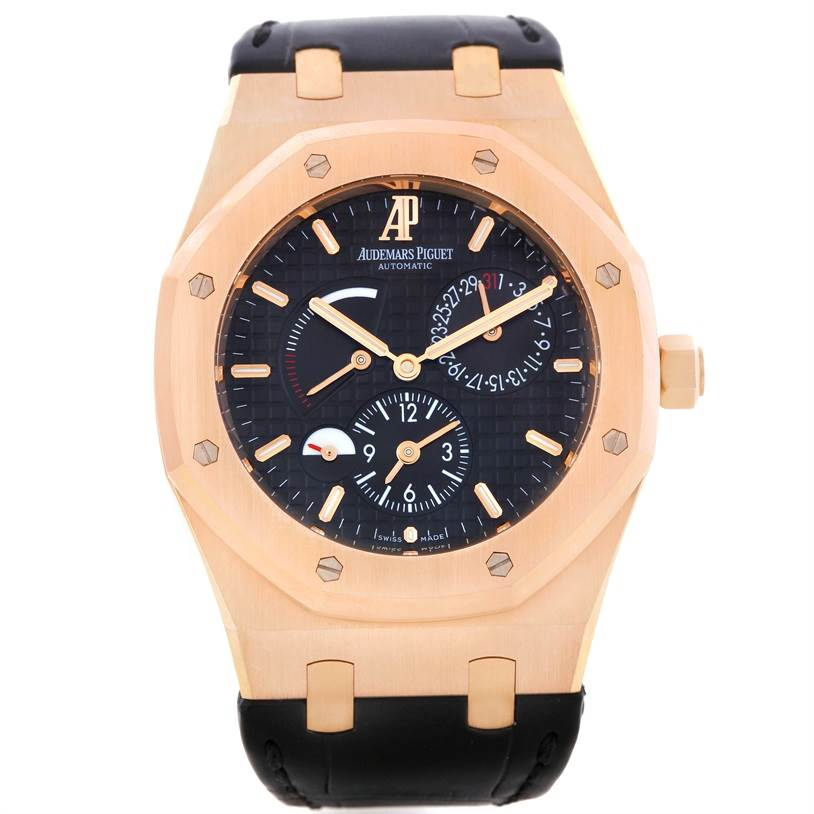 9071 Audemars Piguet Royal Oak Dual Time 18K Rose Gold Watch 26120OR.00.D002CR.01 SwissWatchExpo