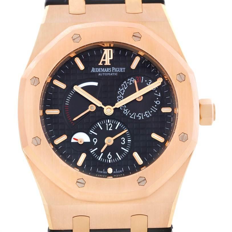 Audemars Piguet Royal Oak Dual Time 18K Rose Gold Watch 26120OR.00.D002CR.01