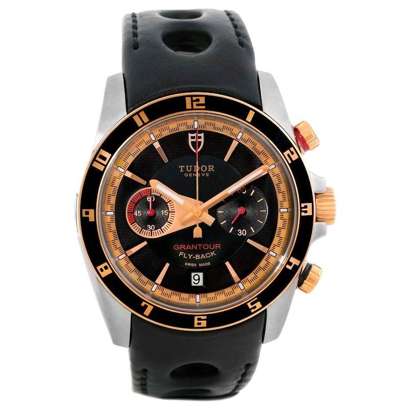 Tudor Grantour Fly-Back Chrono Steel Rose Gold Watch 20551N Unworn SwissWatchExpo