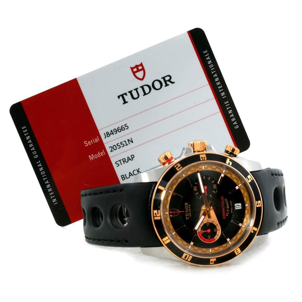 10057 Tudor Grantour Fly-Back Chrono Steel Rose Gold Watch 20551N Unworn SwissWatchExpo
