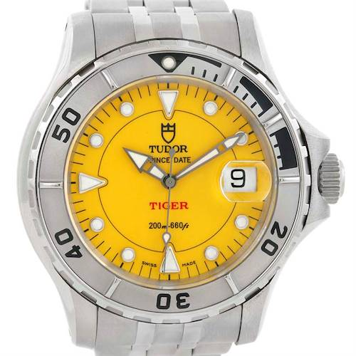 Photo of Tudor Prince Date Hydronaut Tiger Yellow Dial Watch 89190
