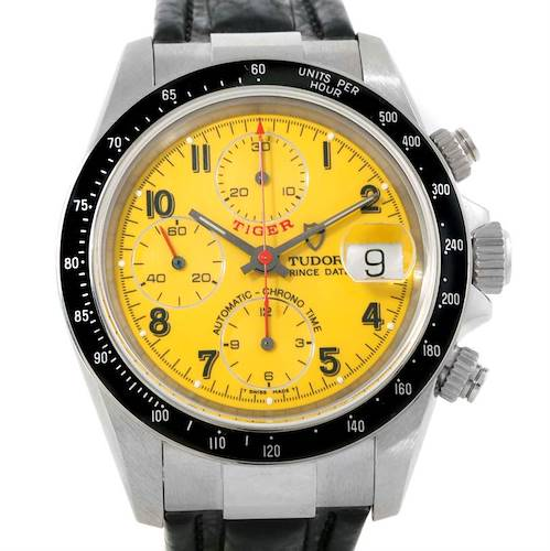 Photo of Tudor Tiger Prince Date Yellow Dial Steel Watch 79260 Unworn