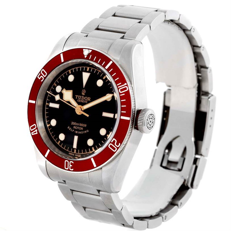 Tudor Heritage Black Bay Steel Burgundy Red Bezel Watch 79220R Box Papers SwissWatchExpo