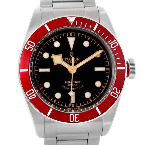 Photo of Tudor Heritage Black Bay Steel Burgundy Red Bezel Watch 79220R Box Papers