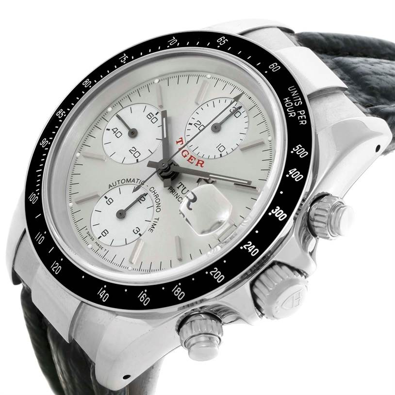 11039 Tudor Tiger Prince Date Silver Dial Stainless Steel Watch 79260 SwissWatchExpo