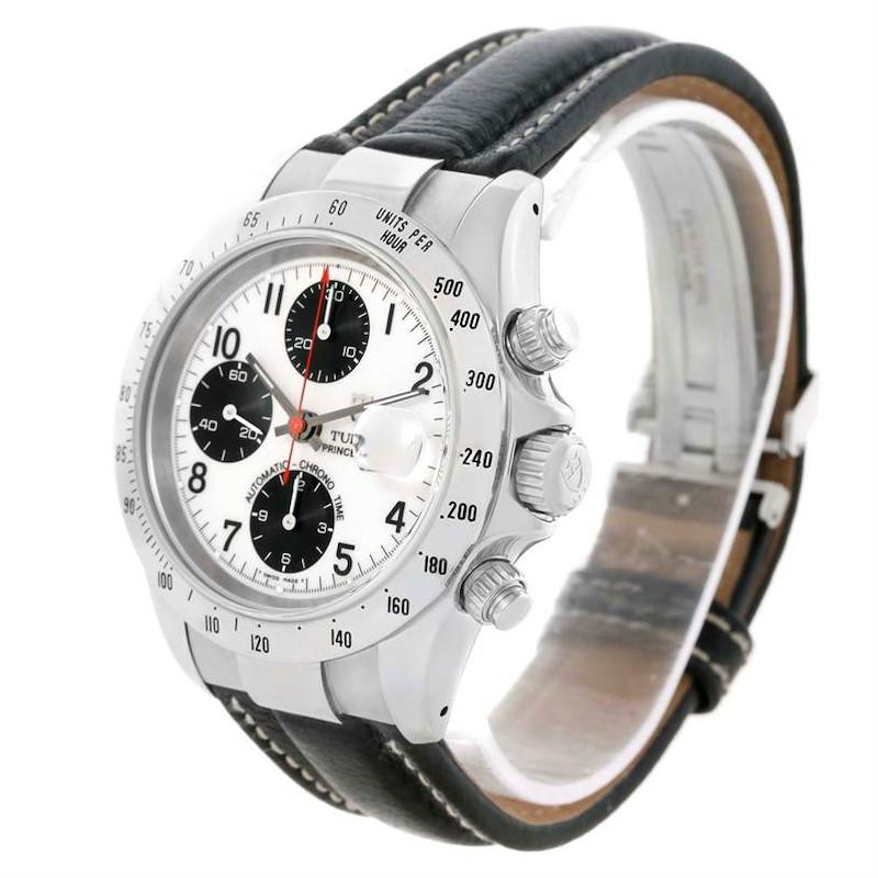 Tudor Tiger Woods Chronograph White Dial Steel Mens Watch 79273 SwissWatchExpo