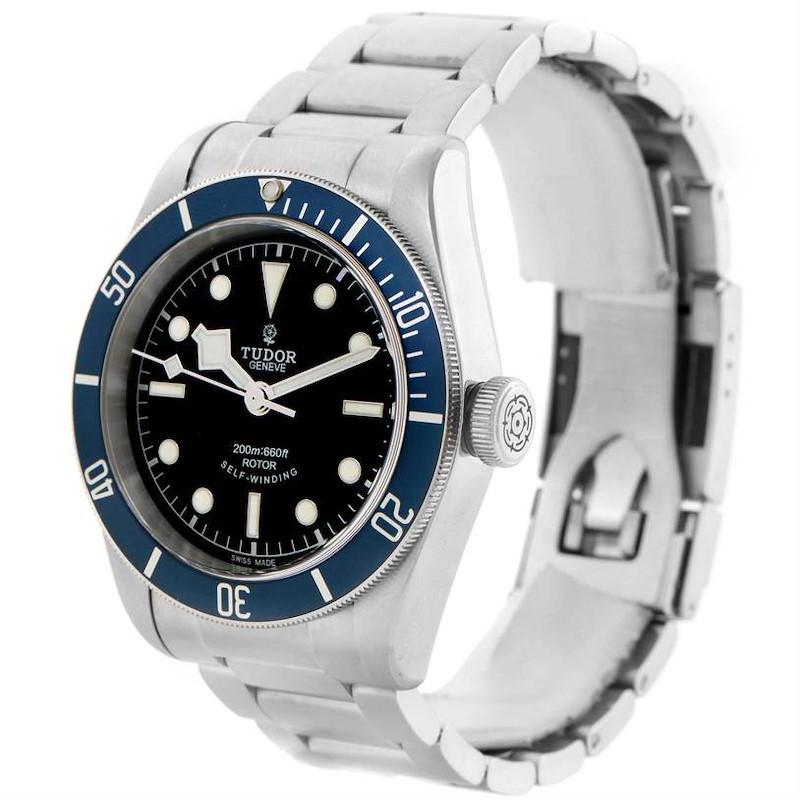 Tudor Heritage Black Bay Blue Bezel Steel Watch 79220B Box Papers SwissWatchExpo