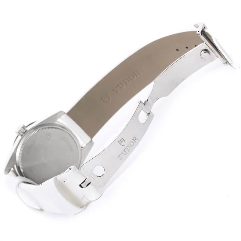 12034 Tudor Glamour White Diamond Dial Ladies Watch 53020 Box Papers SwissWatchExpo