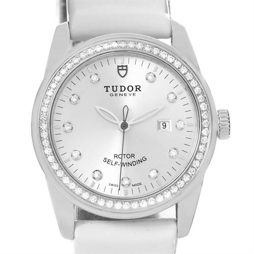 Photo of Tudor Glamour White Diamond Dial Ladies Watch 53020 Box Papers