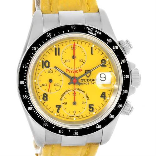 Photo of Tudor Tiger Prince Date Yellow Dial Stainless Steel Mens Watch 79260