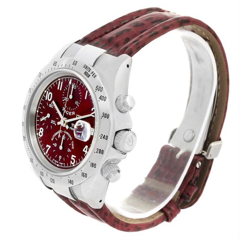 Tudor Tiger Woods Chronograph Burgundy Dial Steel Mens Watch 79280 SwissWatchExpo