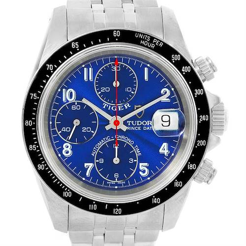 Photo of Tudor Tiger Prince Date Chronograph Blue Dial Steel Watch 79260