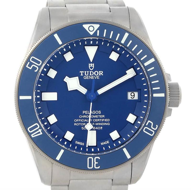 Tudor Pelagos Blue Dial Automatic Titanium Mens Watch 25600TB SwissWatchExpo