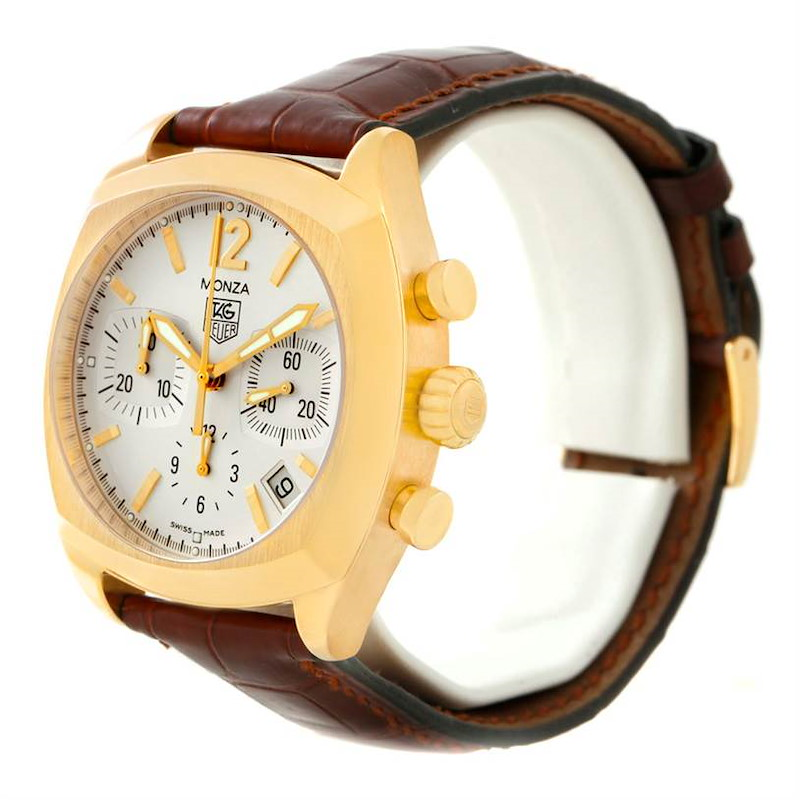 Tag Heuer Monza Chronograph 18K Yellow Gold Watch CR514A SwissWatchExpo