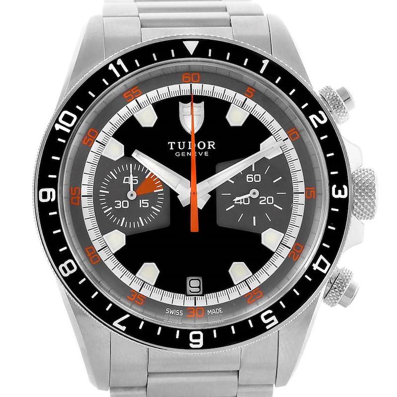 Tudor Heritage Chrono Grey Dial Steel Mens Watch 70330N Box Card SwissWatchExpo