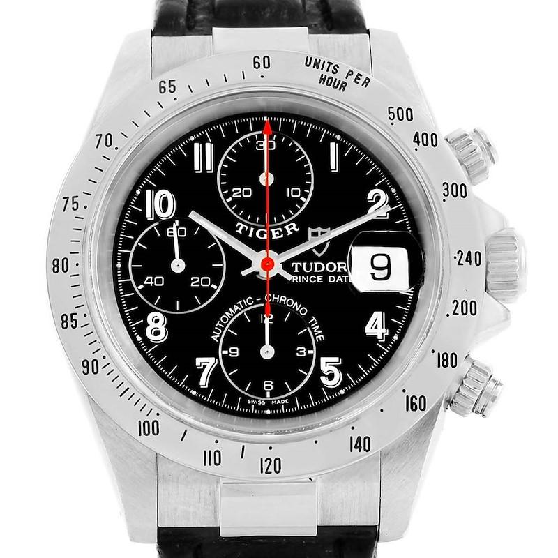 Tudor Tiger Woods Prince Date Black Dial Steel Mens Watch 79280 SwissWatchExpo