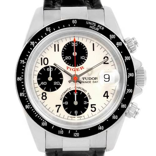 Photo of Tudor Tiger Prince Date White Dial Stainless Steel Mens Watch 79260