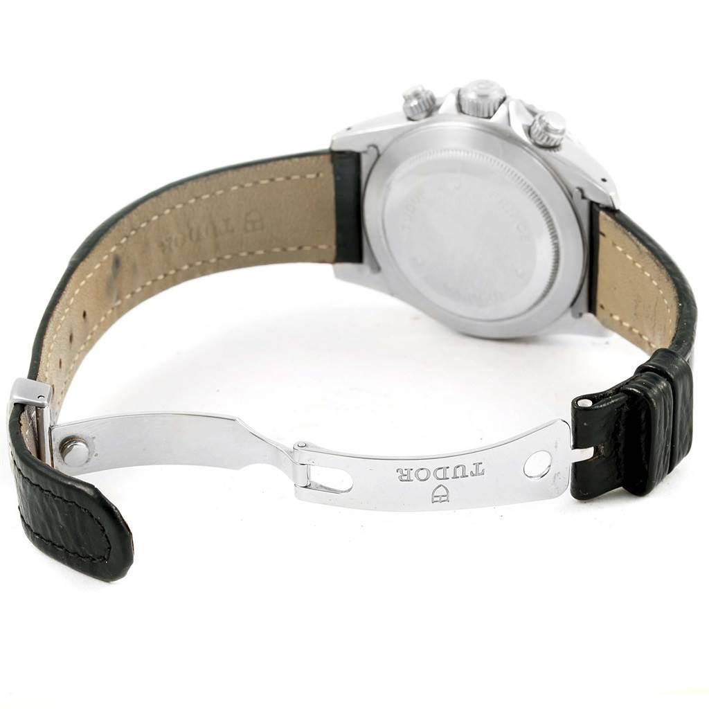 15549 Tudor Tiger Woods Chronograph Black Dial Steel Mens Watch 79260 SwissWatchExpo