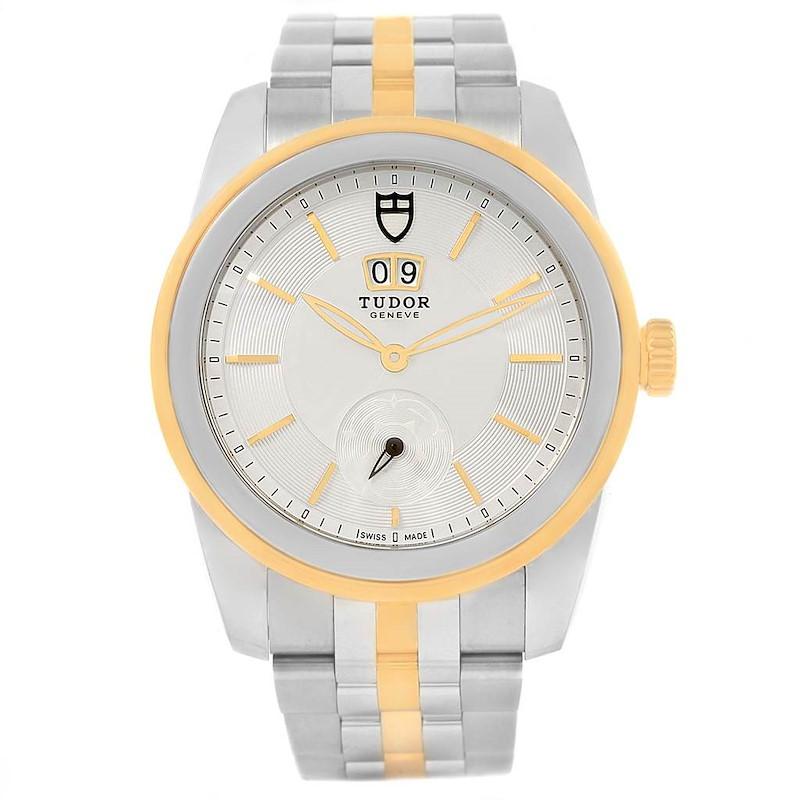 Tudor Glamour Double Date Steel Yellow Gold Mens Watch 57003 Unworn SwissWatchExpo