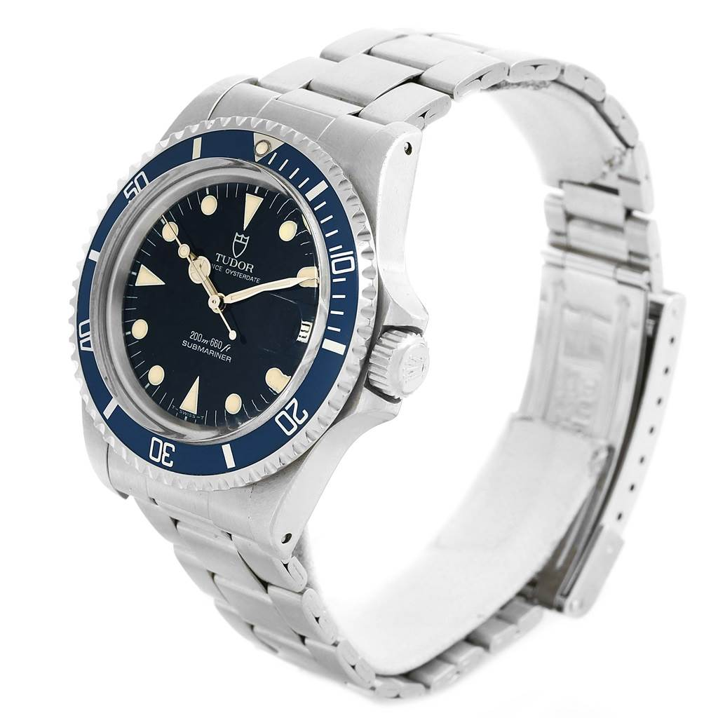 15961 Tudor Submariner Prince Oysterdate Steel Mens Watch 79090 Box Papers SwissWatchExpo