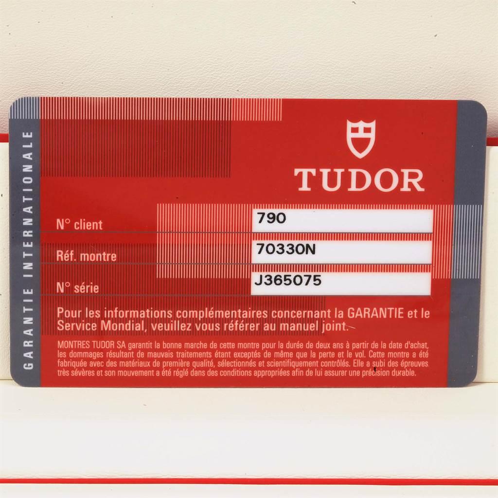 16950 Tudor Heritage Chrono Black Grey Dial Mens Watch 70330N Box Card SwissWatchExpo