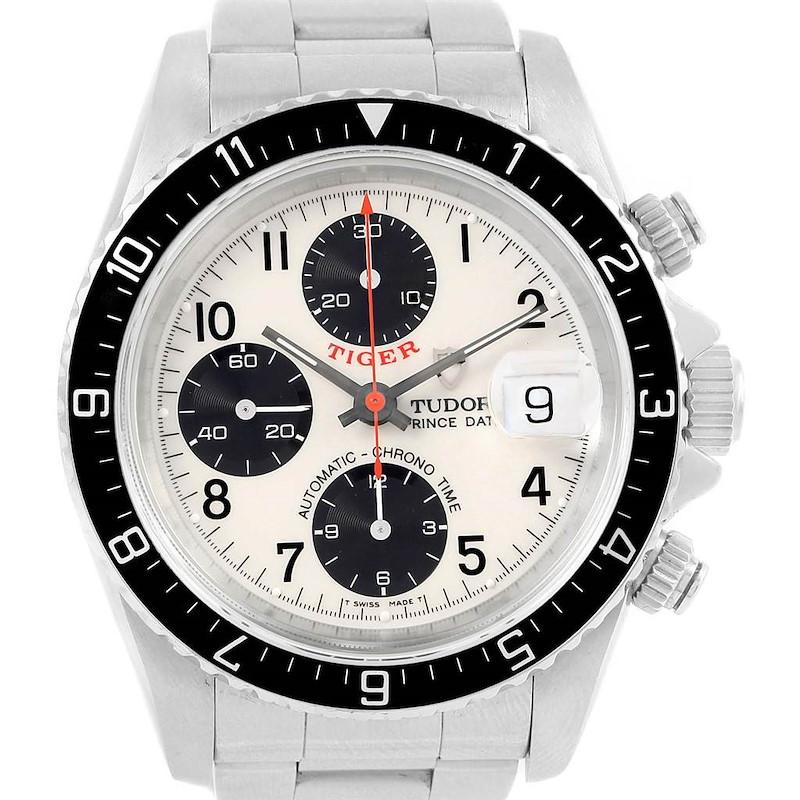 Tudor Tiger Woods Prince Chrono Panda Dial Watch 79270 Box Papers SwissWatchExpo