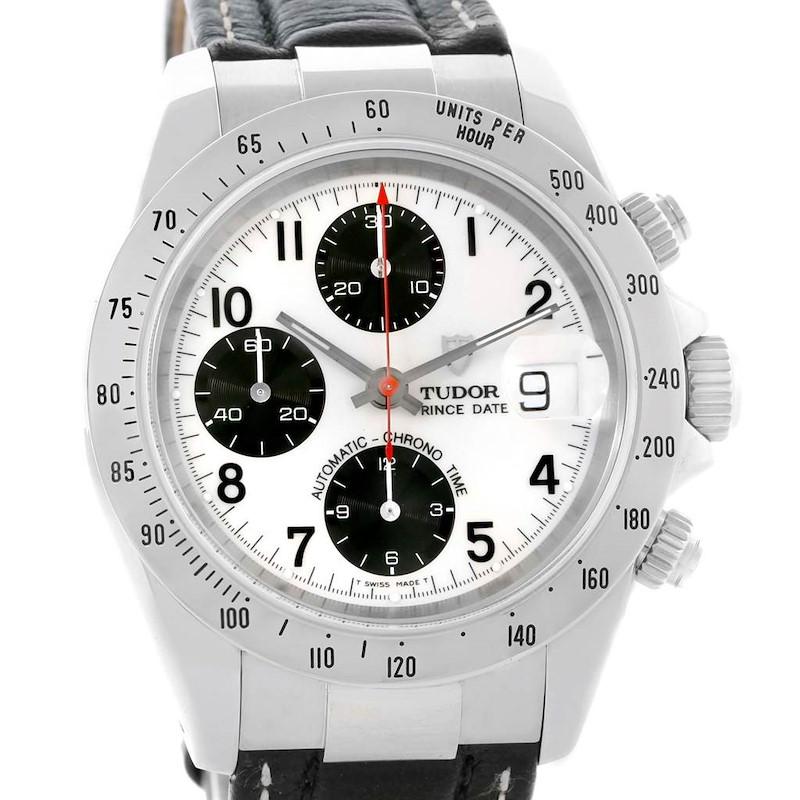 Tudor Tiger Woods Date Chronograph Panda Dial Steel Mens Watch 79273 SwissWatchExpo