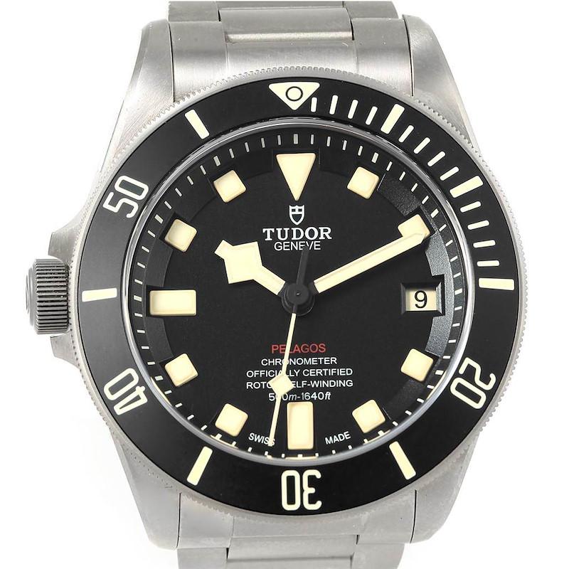 Tudor Pelagos LHD Titanium Steel Mens Watch 25610TNL Unworn SwissWatchExpo