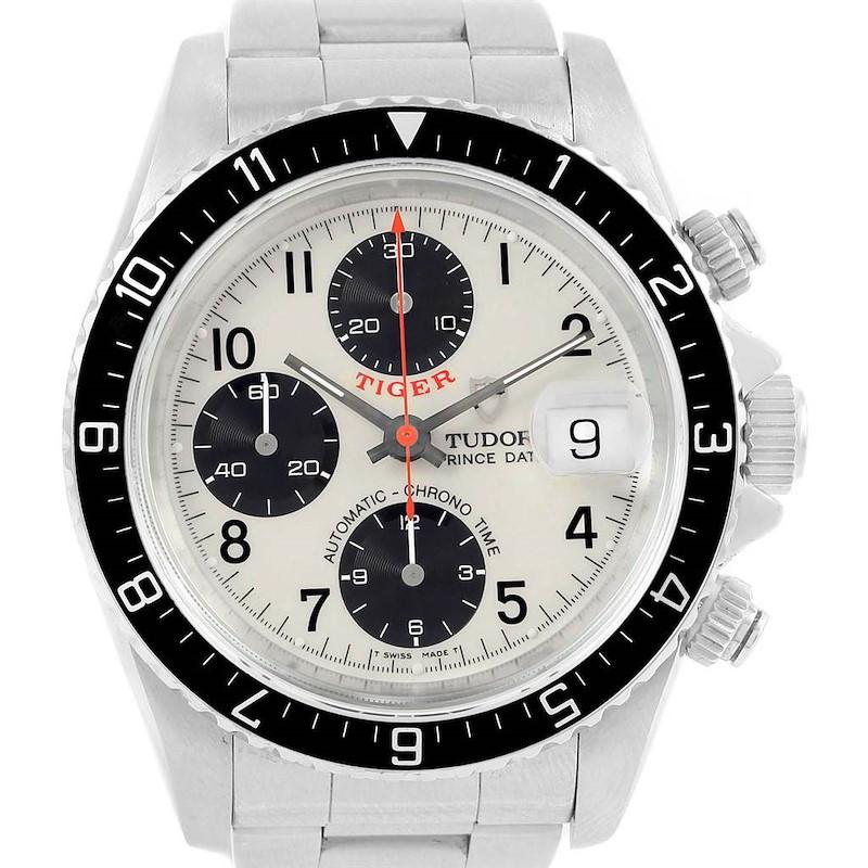 Tudor Tiger Woods Prince Chrono Panda Dial Watch 79270 SwissWatchExpo