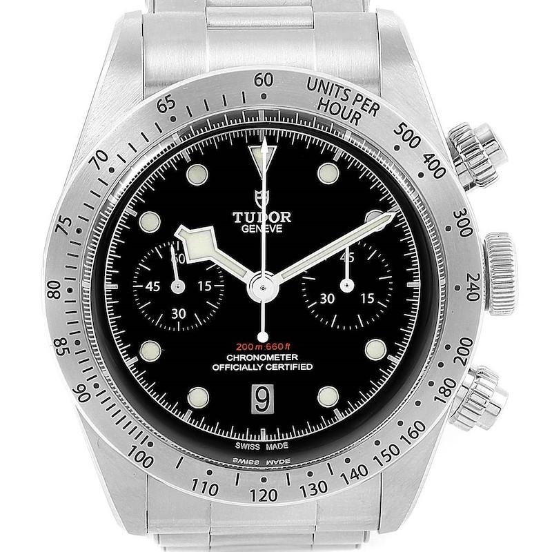 Tudor Heritage Black Bay Chrono Steel Mens Watch 79350 Box Papers SwissWatchExpo