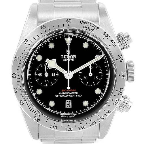 Photo of Tudor Heritage Black Bay Chrono Steel Mens Watch 79350 Box Papers