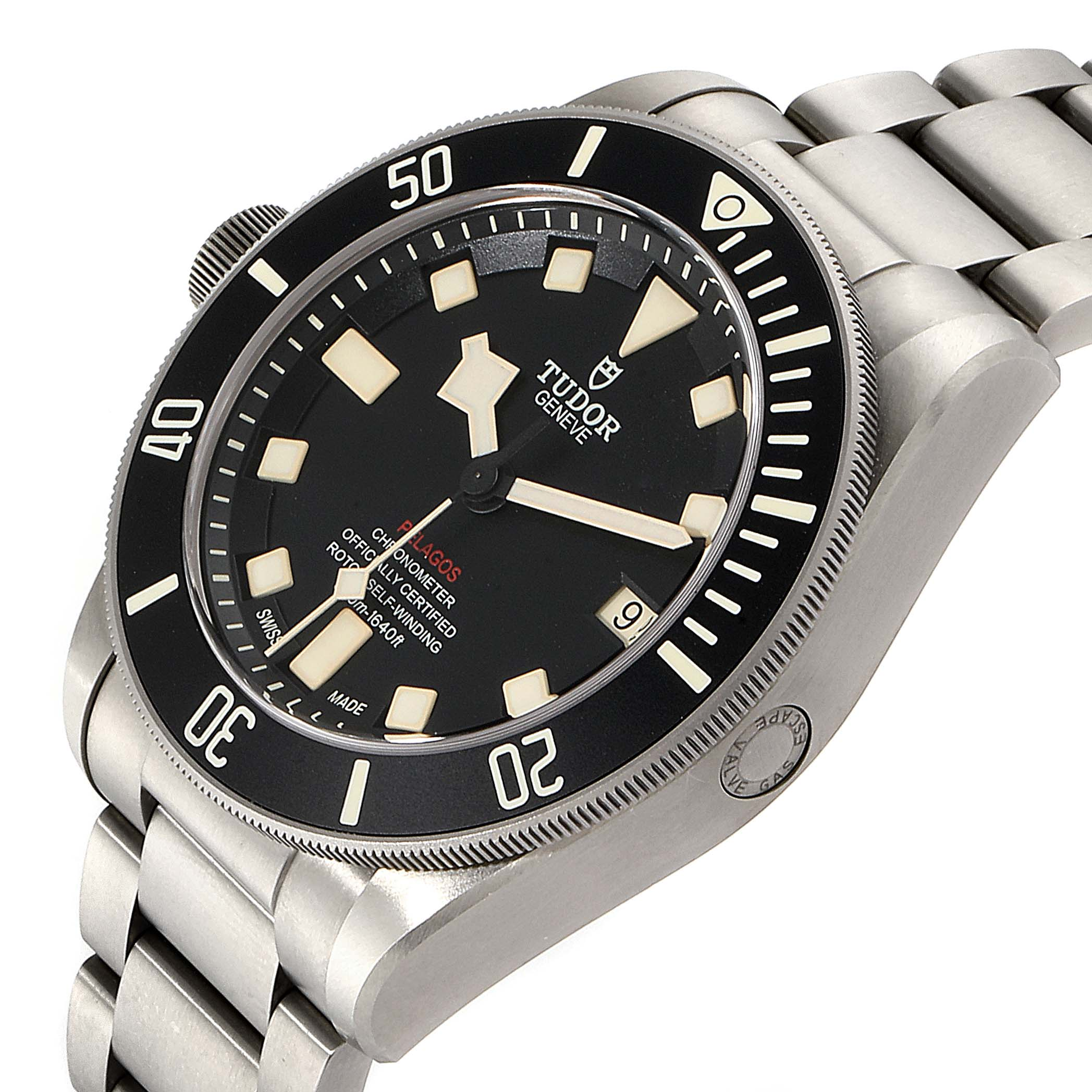 Tudor Pelagos 42mm LHD Titanium Steel Mens Watch 25610 SwissWatchExpo