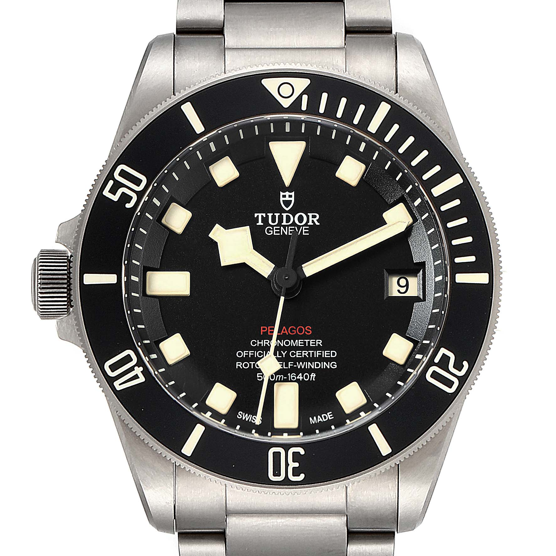 Tudor Pelagos 42mm LHD Titanium Steel Mens Watch 25610 SwissWatchExpo