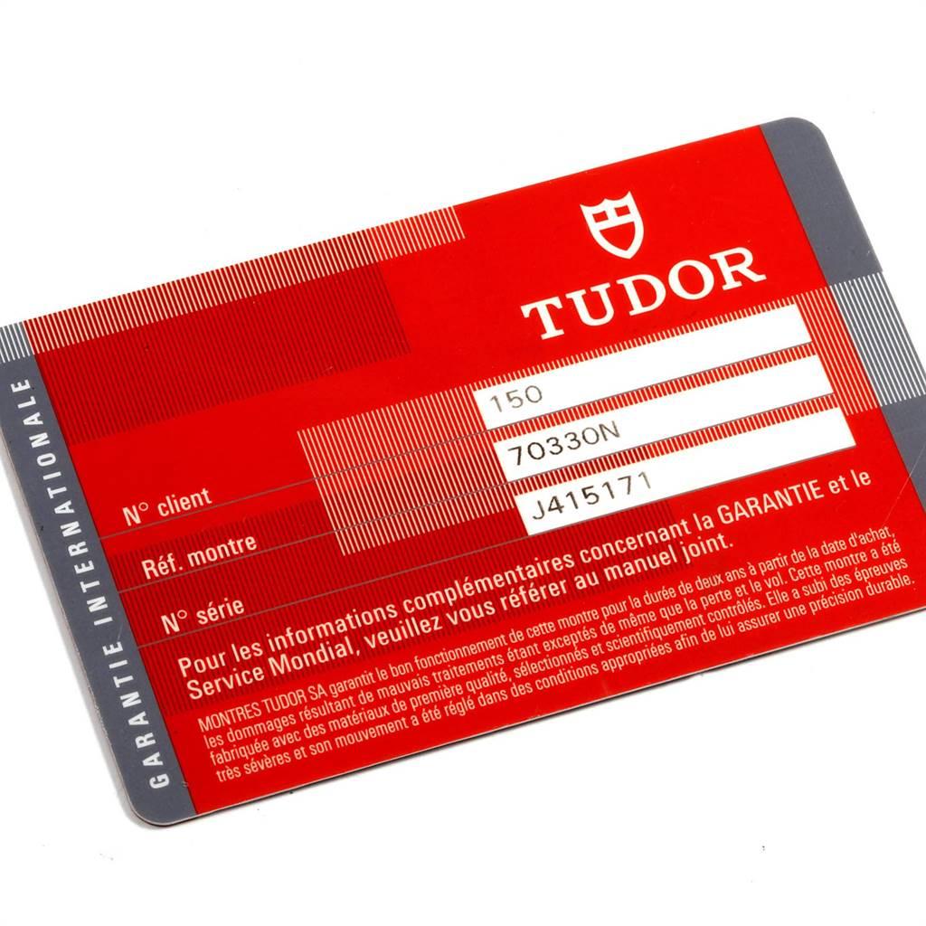 Tudor Heritage Chrono Black Grey Dial Mens Watch 70330N Card SwissWatchExpo