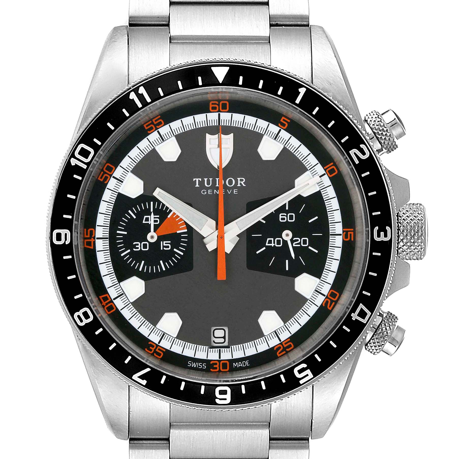 Photo of Tudor Heritage Chrono Grey Dial Steel Mens Watch 70330N