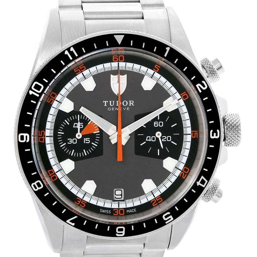 18237 Tudor Heritage Chrono Grey Dial Steel Mens Watch 70330N SwissWatchExpo