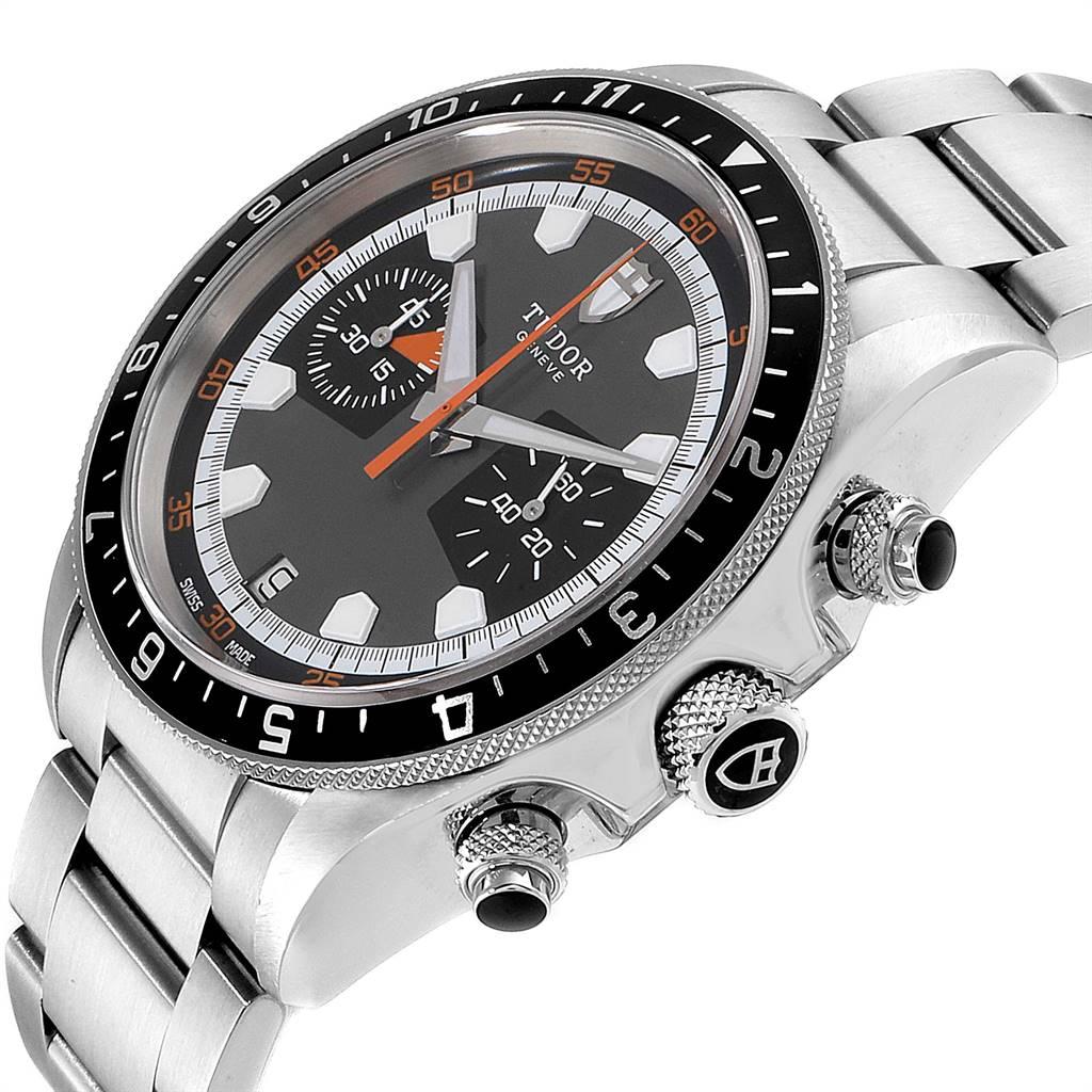 Tudor Heritage Chrono Grey Dial Steel Mens Watch 70330N SwissWatchExpo